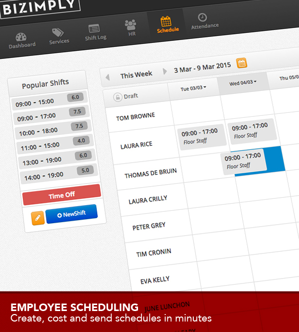 Bizimply Software - Shift planner