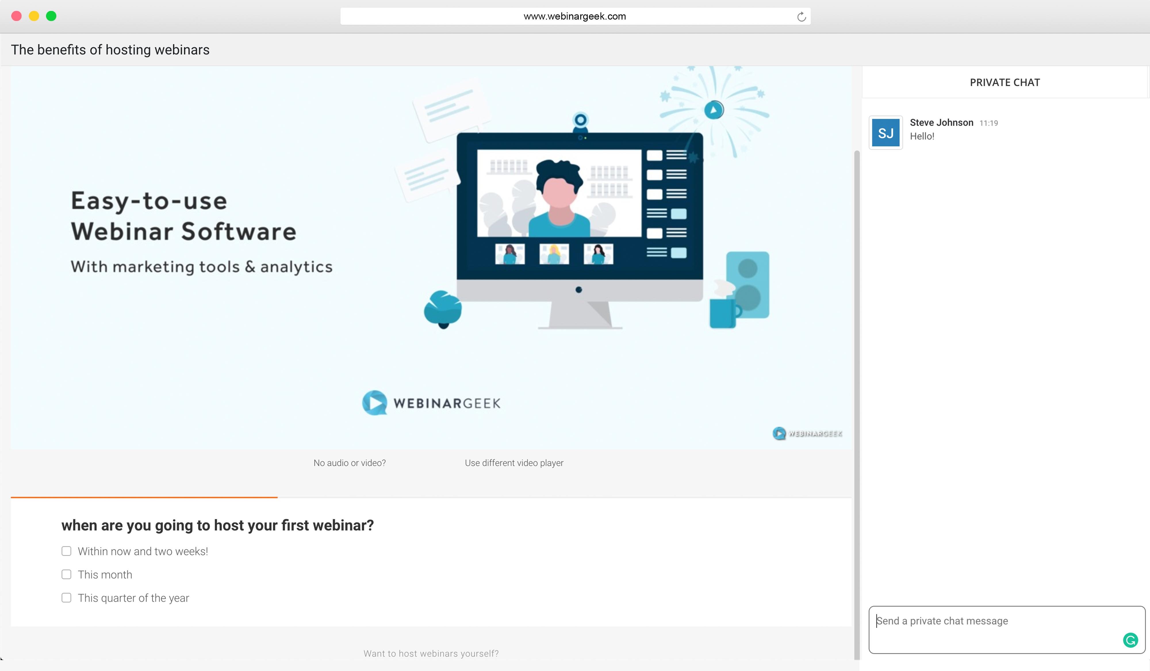 WebinarGeek webinar interaction