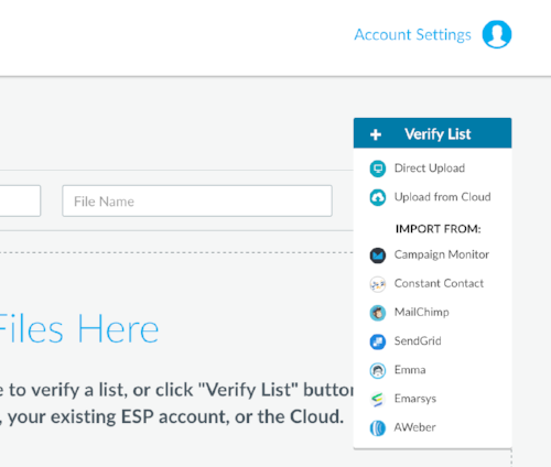 Import email lists directly from your ESP