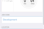 QuickBooks Time screenshot: Clock out using iOS mobile app