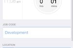 Capture d'écran pour QuickBooks Time : Clock out using iOS mobile app