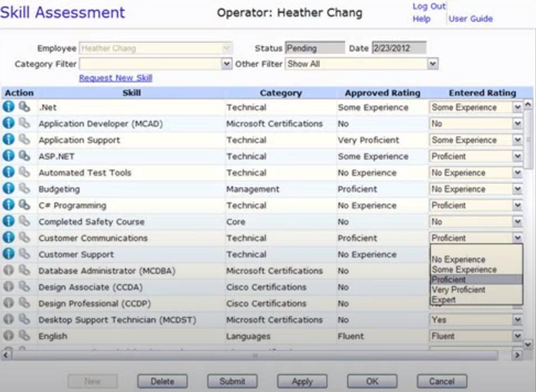 TrackStar Skills Tracker assessment