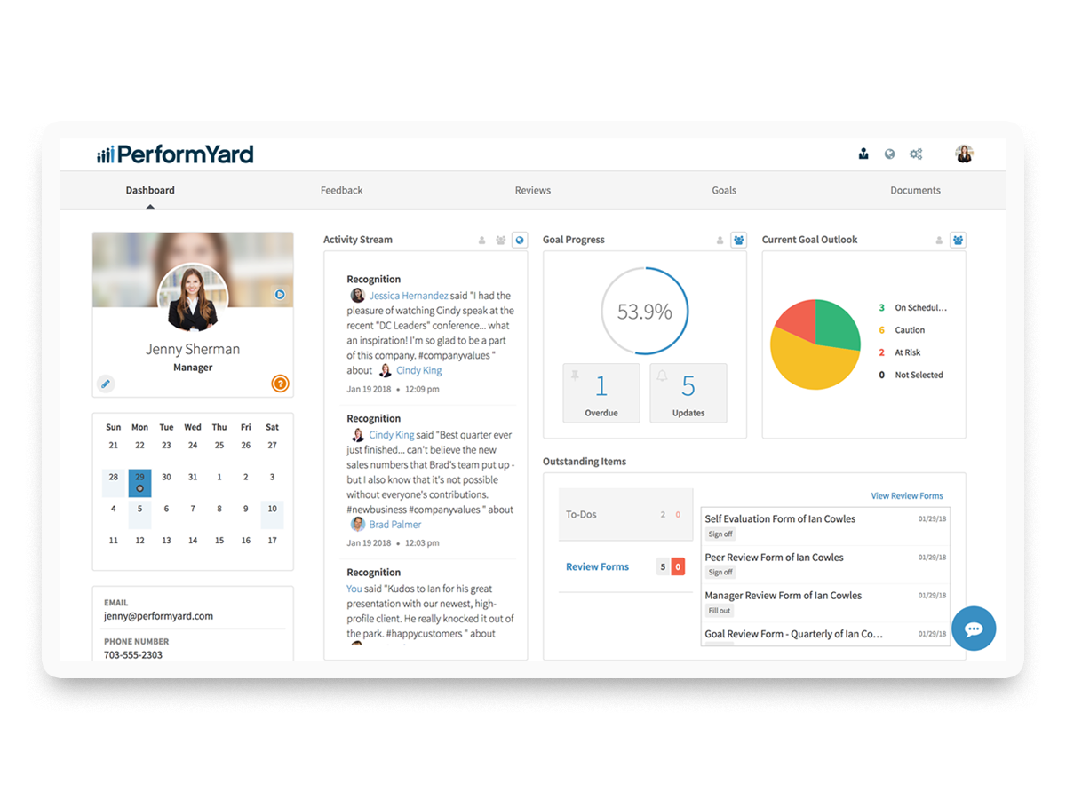 PerformYard Talent Software - Reviews, goals, and feedback