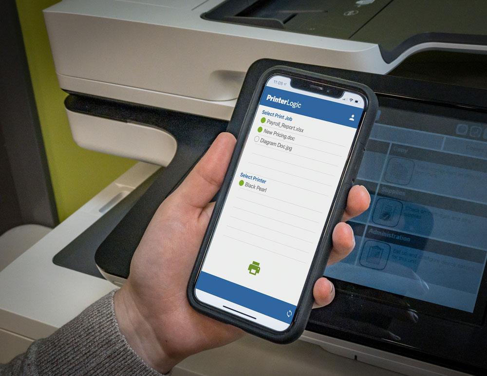 PrinterLogic print release mobile app