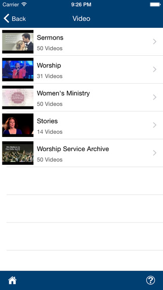 Members can also watch church video recordings through TouchPoint