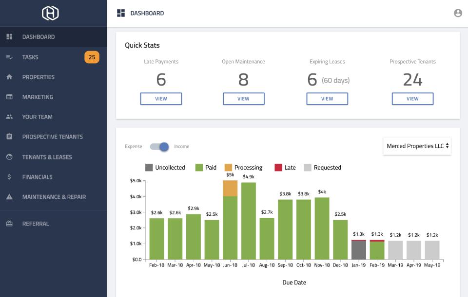 Hemlane Software - Dashboard
