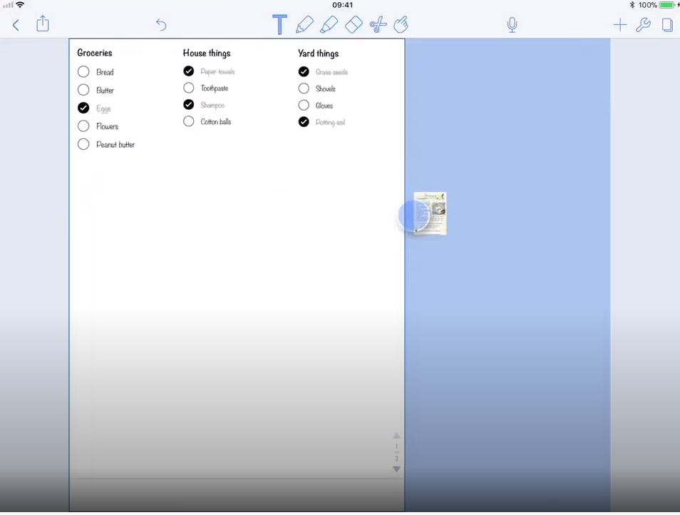 Notability drag-and-drop