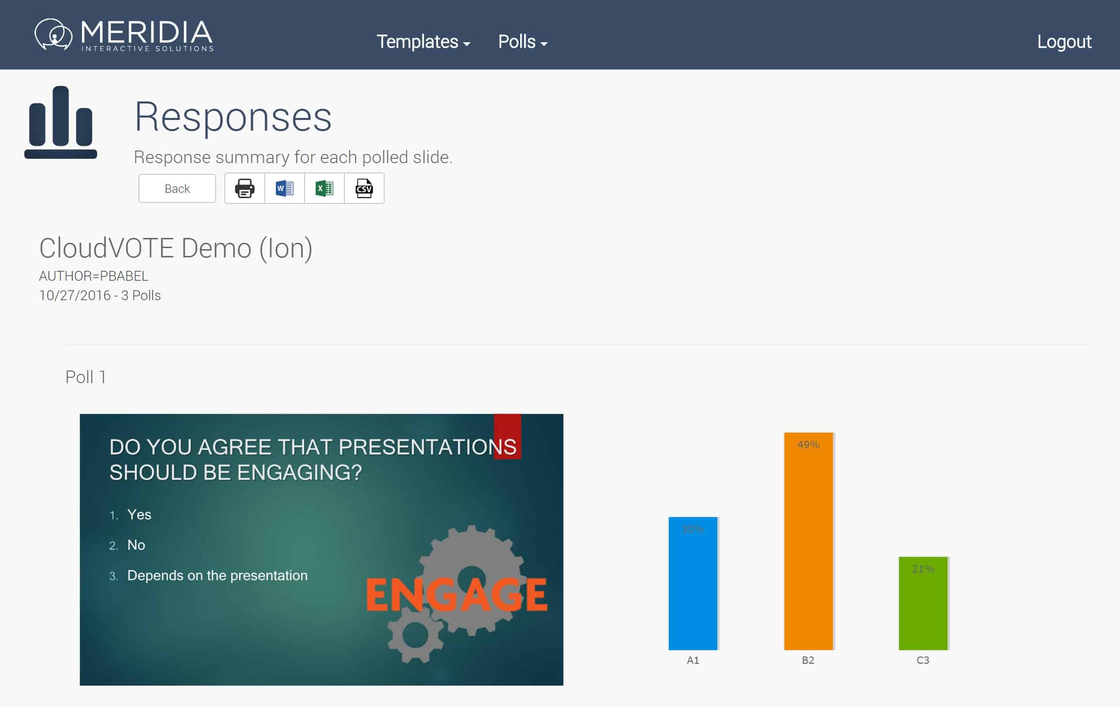 Audience Response Systems reports
