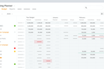 BrandMaker screenshot: Keep finances in focus! Gain full visibility on planned, committed and actual budgets. Take the international context into account and manage the budget information in the currency needed.