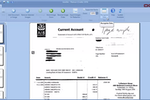AutoRec screenshot: AutoRec will read each scanned page image and automatically detect what bank statement type it is