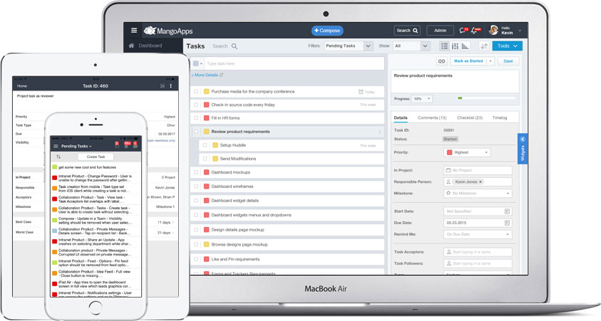 Task management to keep your projects on track from start-to-end.