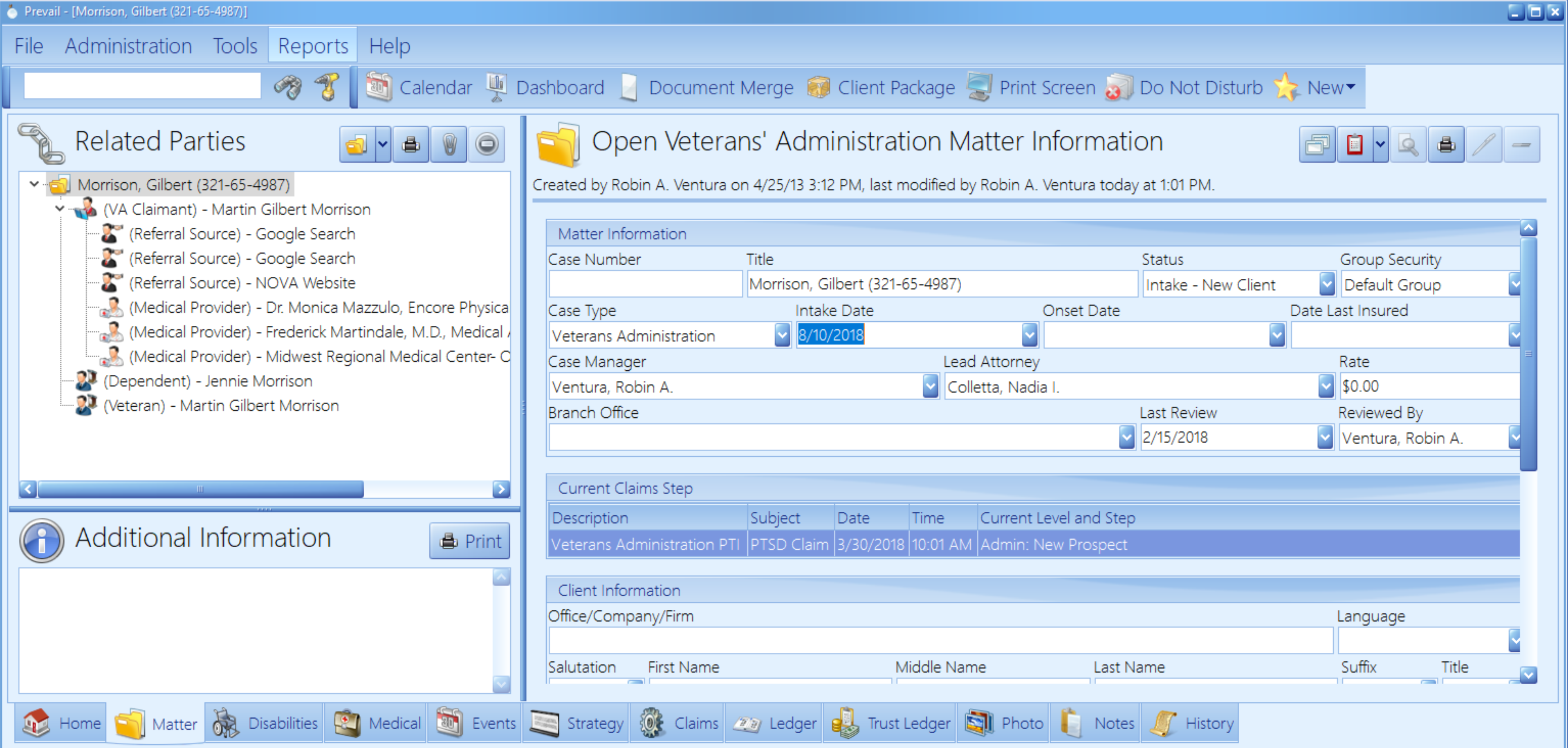 Manage Contacts & Matter Data
