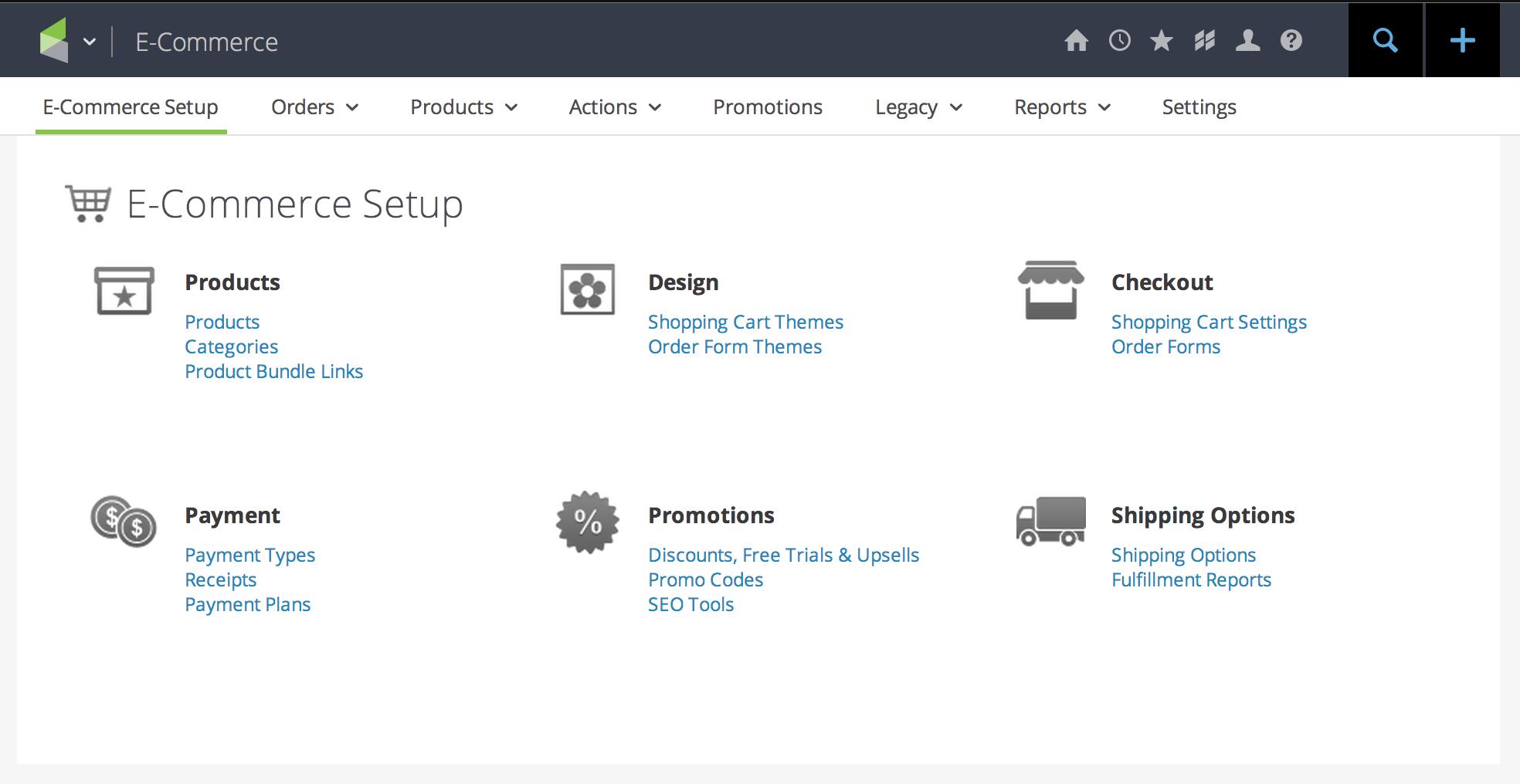 Keap screenshot: Infusionsoft E-Commerce tools