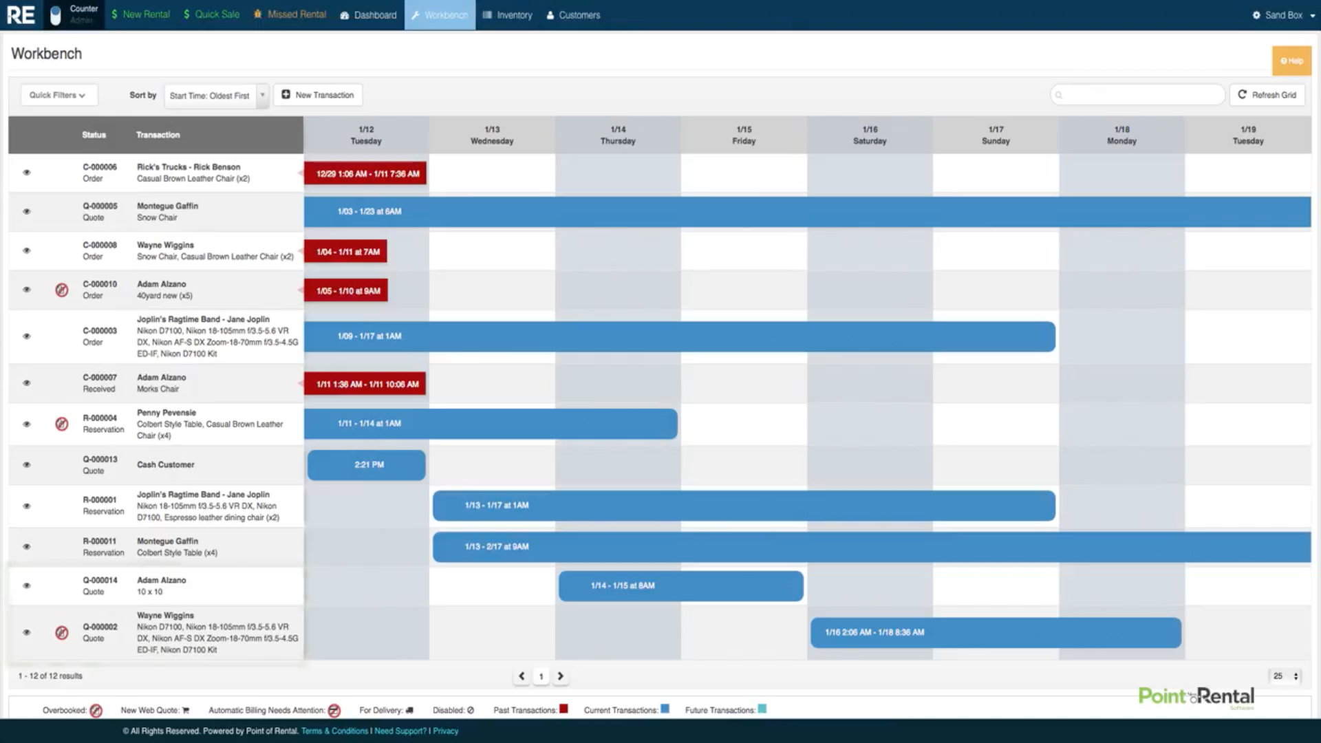Avoid overbookings and view availability with the calendar tool.
