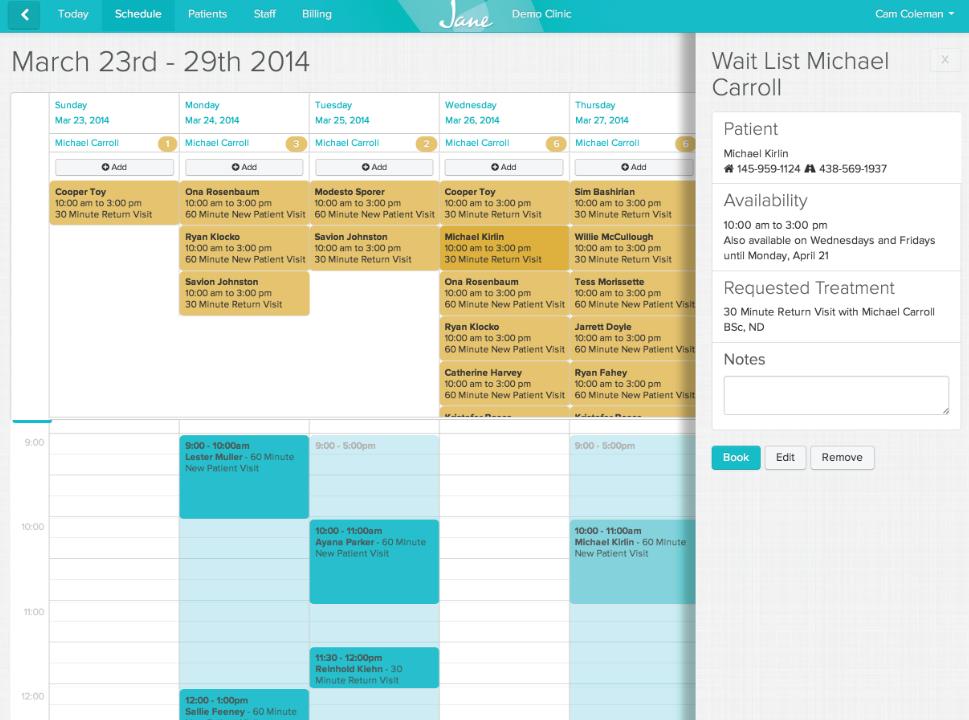 Jane calendar