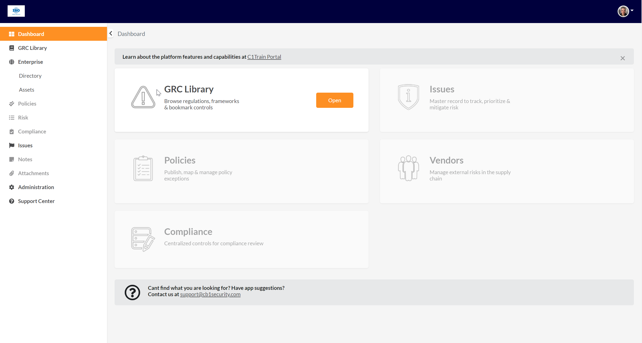 CyberOne Software - Out of the box ready GRC platform with content