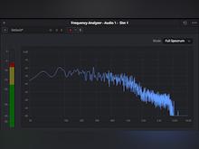 DaVinci Resolve Software - DaVinci Resolve frequency analyzer