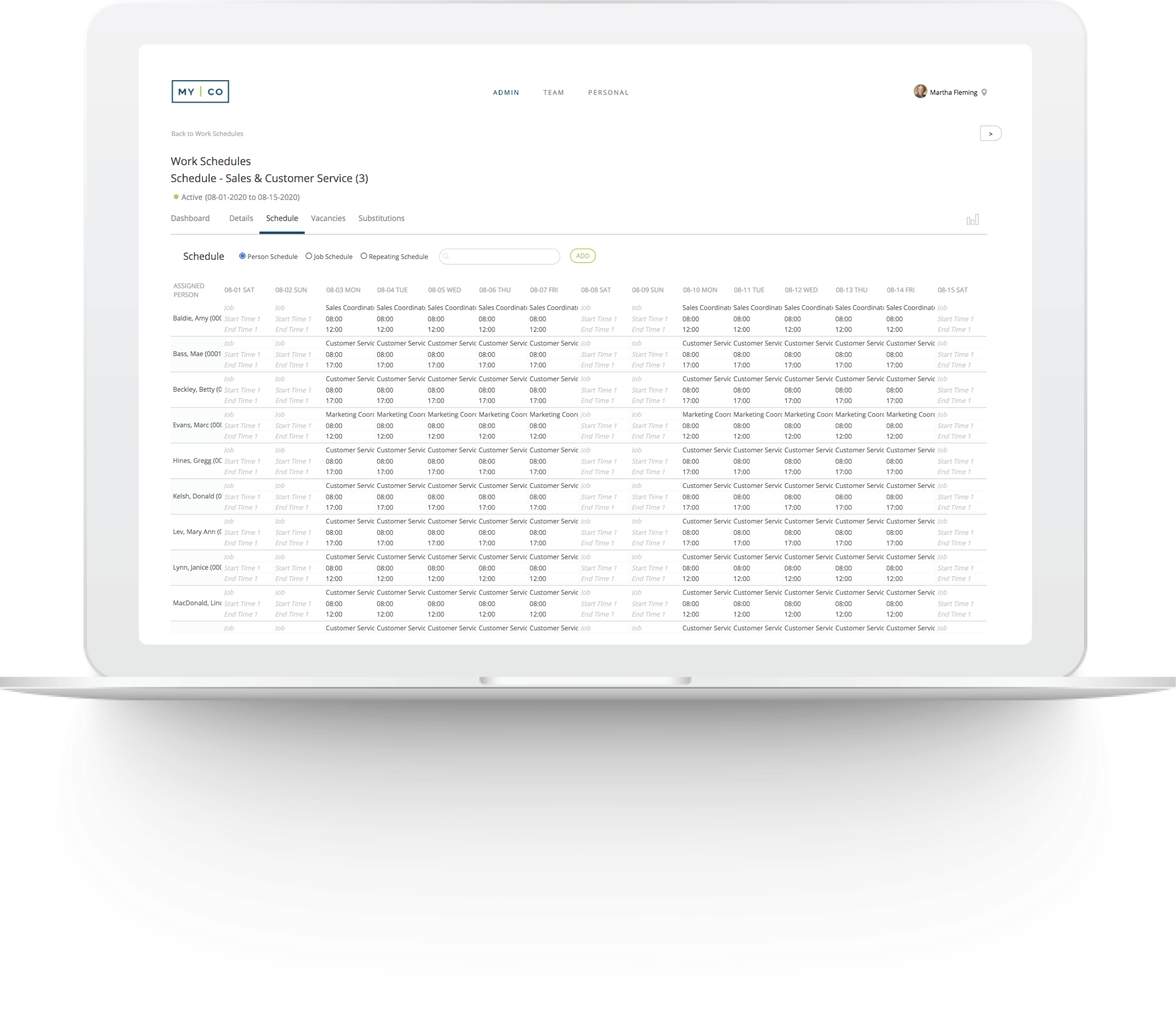 Easily manage all types of schedules