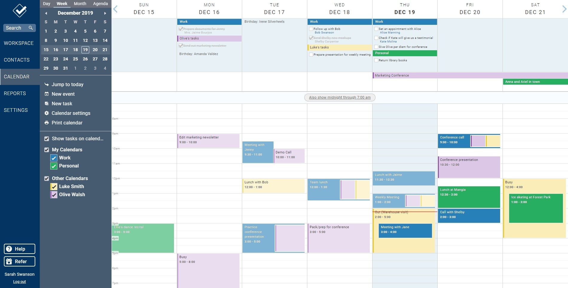 Our powerful web calendar allows you to stay on top of your events and to-dos and those of your co-workers.