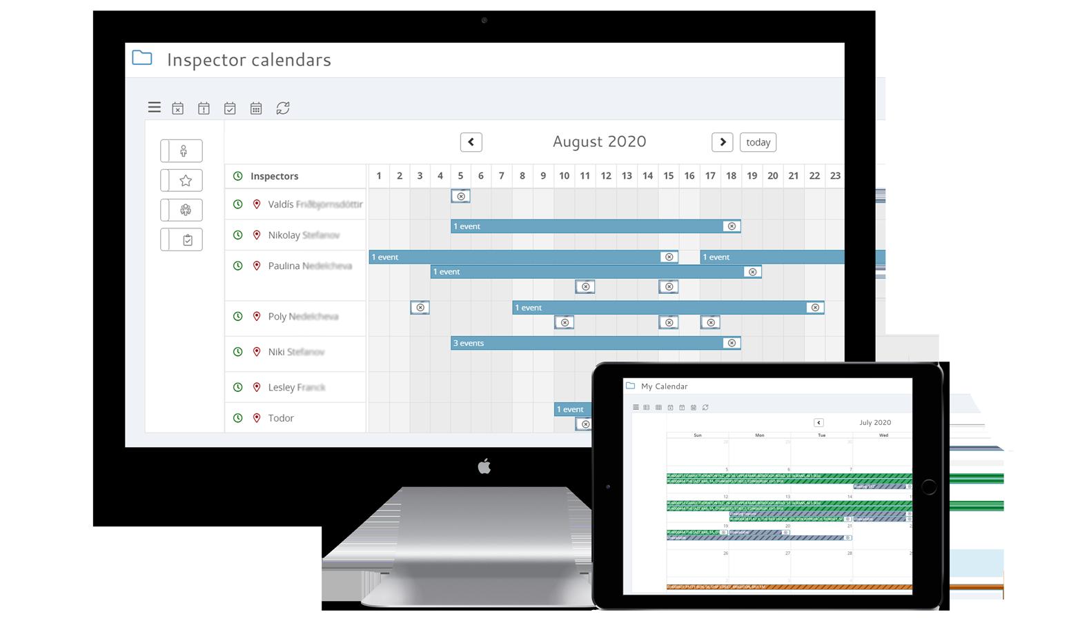 Canalix inspector calendars