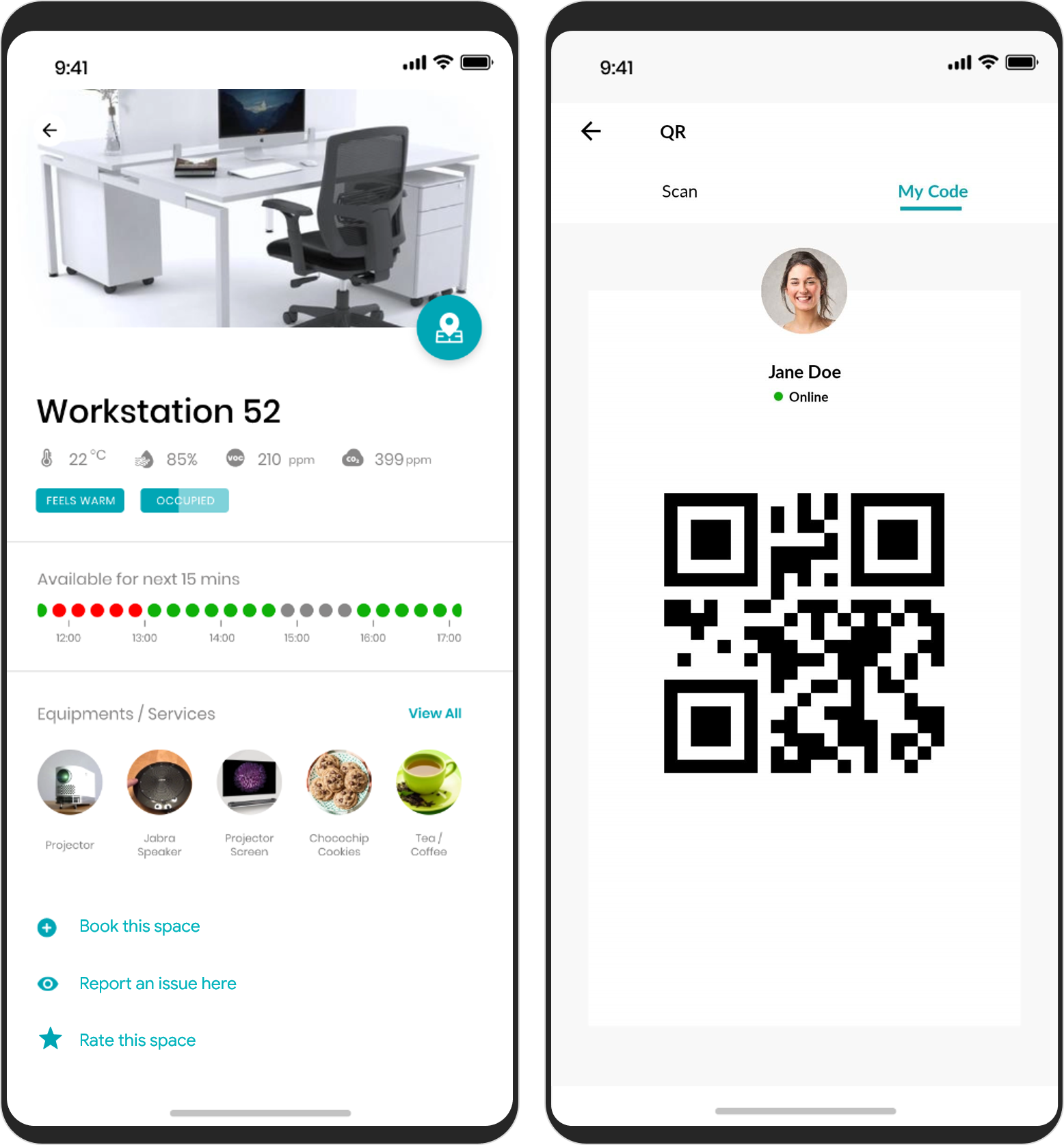 Room booking app and digital workplace assistant