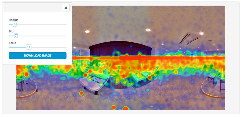Find out what customers are focusing on using heatmap technology and audience analytics