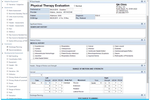 ClinicSource screenshot: ClinicSource - Physical therapy evaluation plan