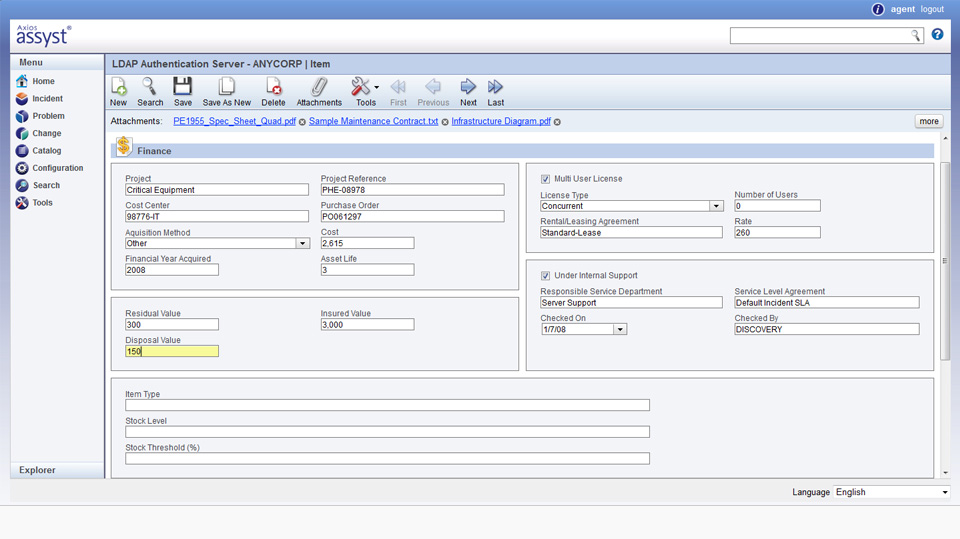 Assyst System Software - Finance