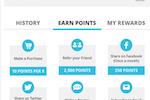 Zinrelo screenshot: Zinrelo earn points