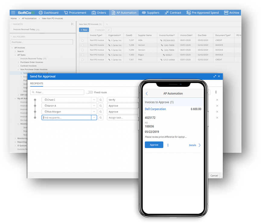 Fully automate your invoice approval process with SoftCo AP