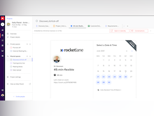 Rocketlane Software - Add templated Rocketlane documents, or embed documents from Gsuite, Figma, calendly, and many other sources, to live collaborate and track work emerging from documents.