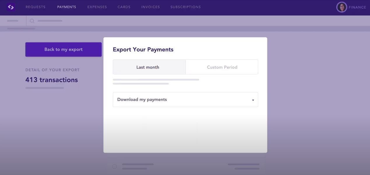 Spendesk Software - Spendesk export payments