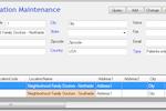 Apex LIS screenshot: Apex LIS location maintenance screenshot