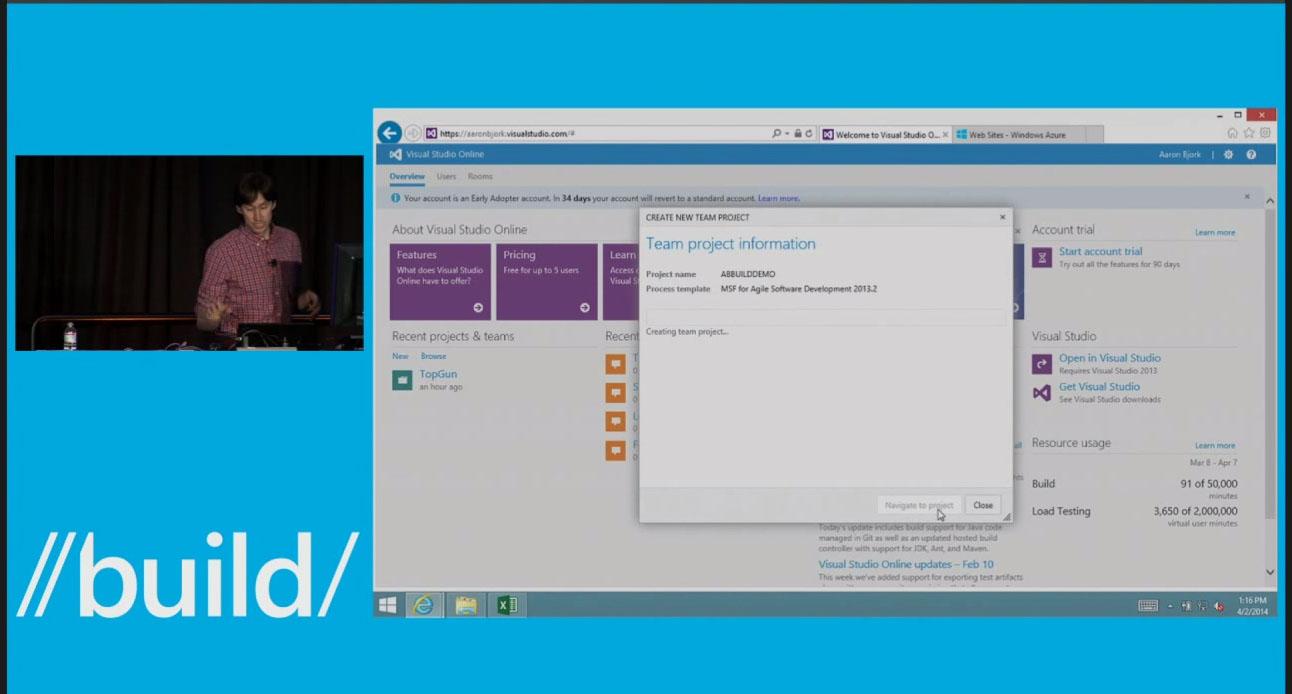 Microsoft Visual Studio Online Create Team Project