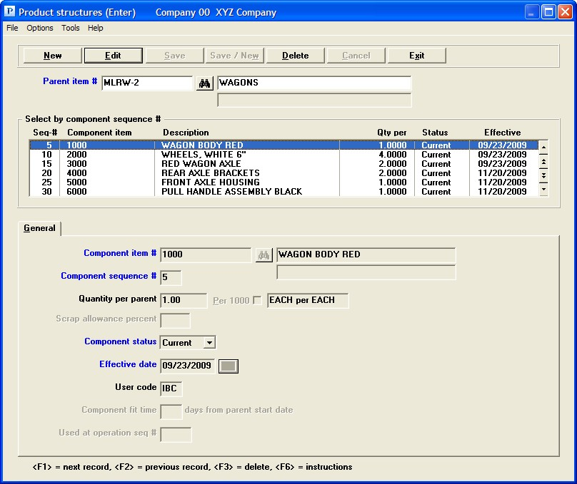 PBS Accounting Software - Single-level and indented bills