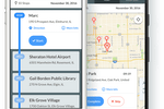 Routific screenshot: Routific's mobile web app for drivers provides on-the-go access to maps, routes, and stop information
