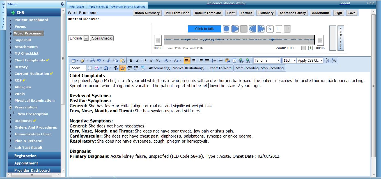 Enablemypractice Software - Word processor