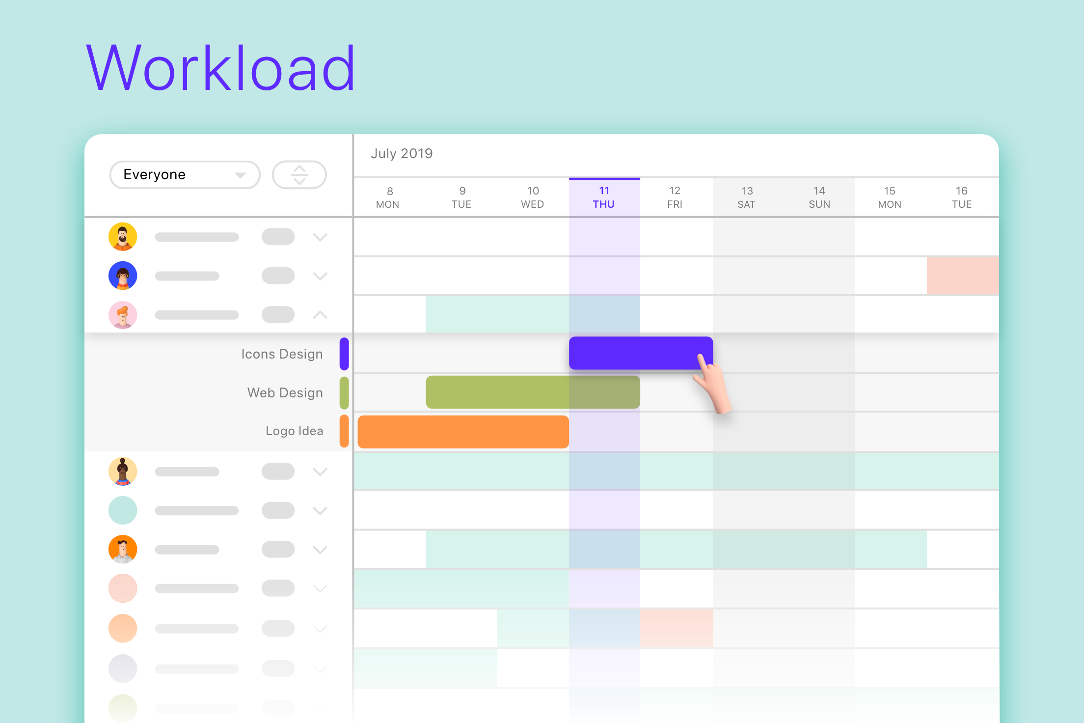 ActiveCollab Workload is a visual resource management tool built for agencies and creative professionals.