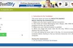 Captura de pantalla de Testofy: Testofy candidate portal