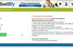 Testofy screenshot: Testofy candidate portal
