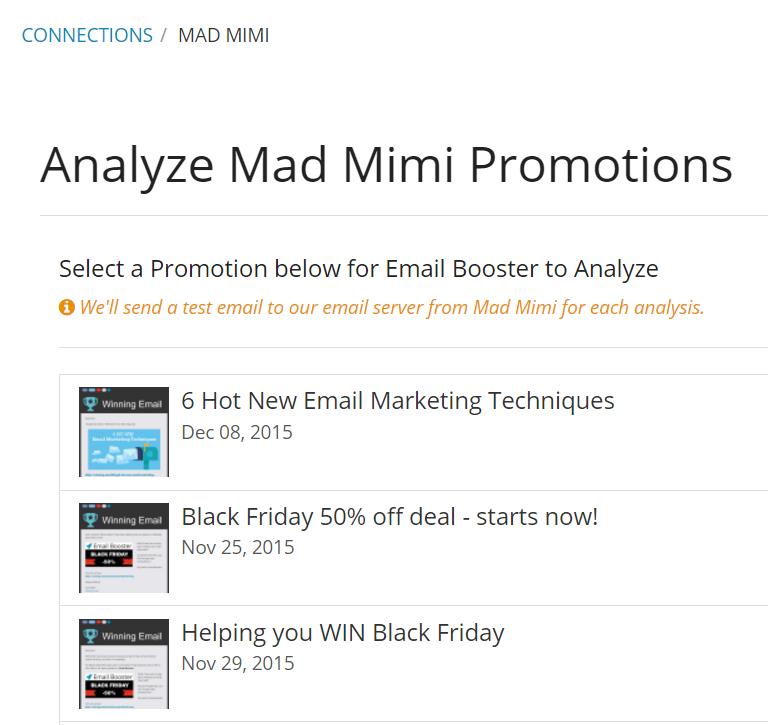 Winning Email Software - Mad Mimi analysis