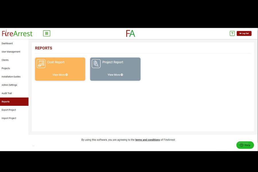 FireArrest project report options