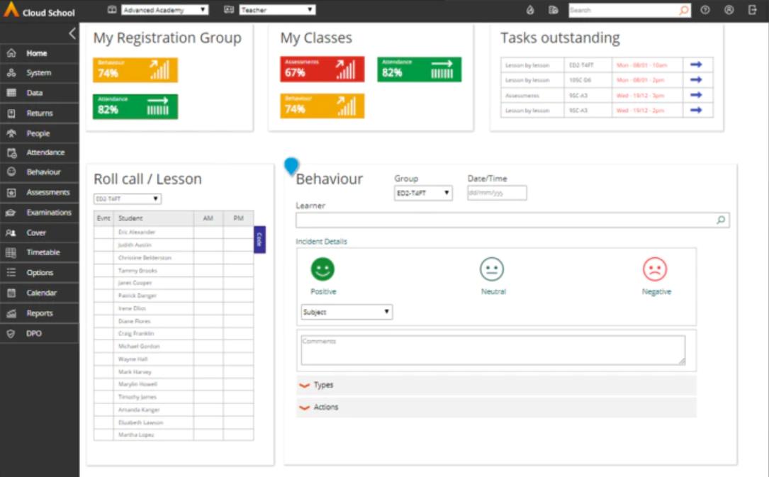 Cloud School analytics