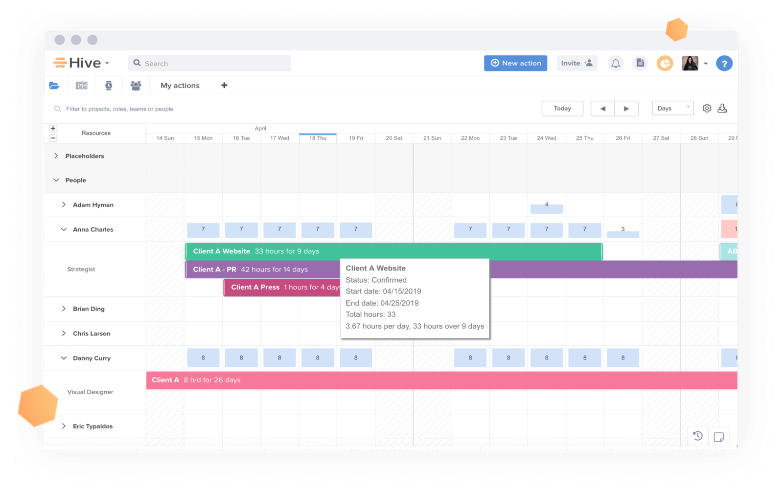 View projects in portfolio view with ease.