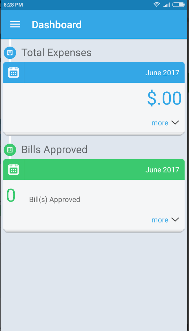 Check expenses and approved bills via mobile