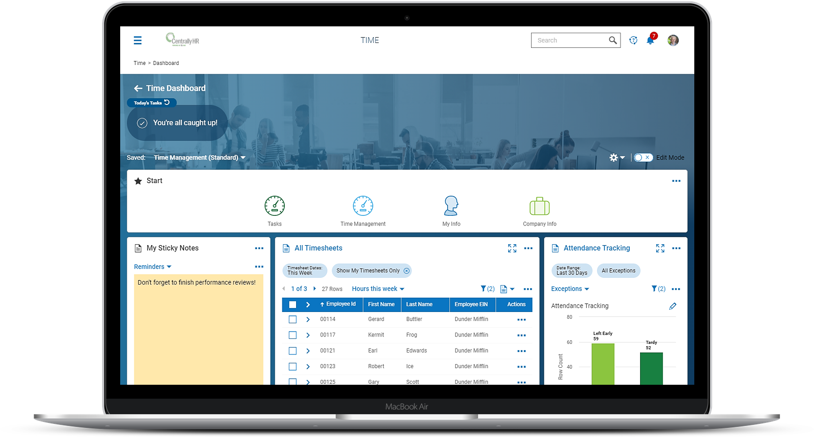 Manager's Time Dashboard