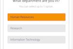 Pigeonhole Live screenshot: Set multiple-choice questions for participants