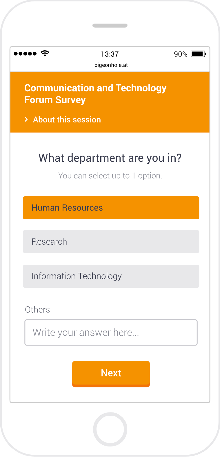 Set multiple-choice questions for participants
