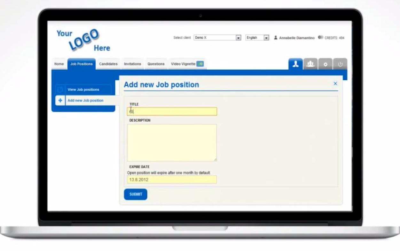 Video Recruit Software - Adding job positions %>