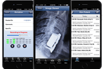 NephroChoice screenshot: The iPhone app offers dictation, mobile imaging and calendar view